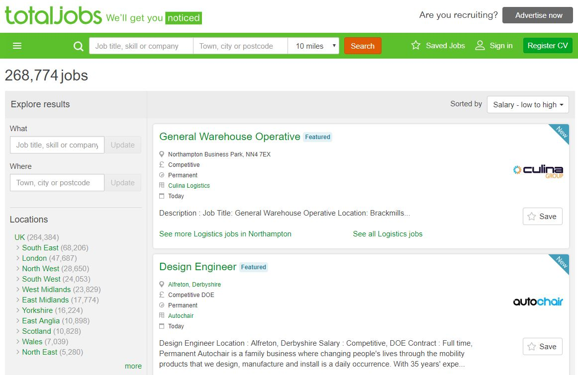 recruitment agencies on total jobs